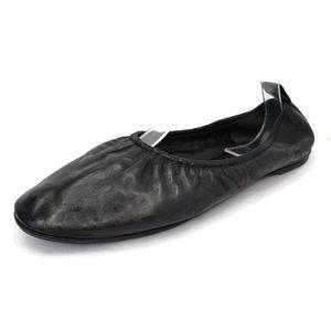 CELINE Paris Black Leather Slip on Ballet Flats